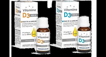 Deux dosages de VITAMINE D3